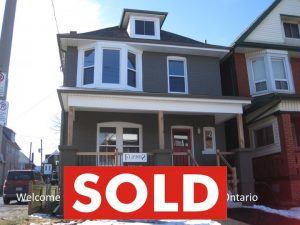 SOLD! OVER ASKING -50 SOMERSET Avenue  HAMILTON ON